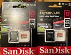 2 SanDisk Extreme Plus microSDHC UHS-I Card w/ Adapter - 32GB - 100MB/s 4K