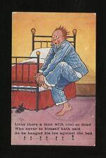 Artist REG CARTER Comic Man Bed & Toe PPC J Salmon c1911/12