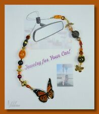 Monarch Butterfly - Beautiful Nature Rear View Mirror Hanger Car Jewelry