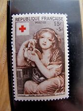 1954 timbre France croix rouge 15f + 5f neuf 1007