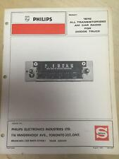 Philips Service Manual for the 1969 1970 Dodge Truck Radio CF16005 3489160