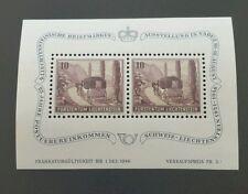 Liechtenstein 1946 stamps mini sheet . Mint condition  MNH