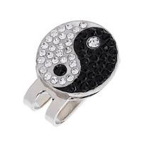 Bling-bling Yin Yang Magnetic Hat Clip Golf Ball Marker Fit for Cap Visor