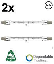 2x 80w=100w 78mm Lampadina alogena incandescente lineare Basso consumo R7s