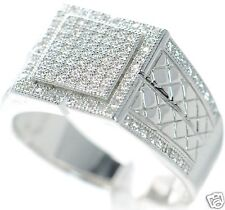 Men's Solid 925 Sterling Silver Simulated Diamond Ring Size-11 '