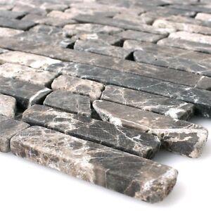 Mosaik Fliese Marmor Naturstein Bruch Ciot Impala braun geflammt MOS44-1306/_m
