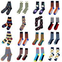 Mens Cotton Blend Socks Winter Warm MultiColor Casual Dress Socks&