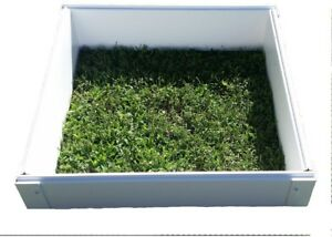 Raised Garden Bed 25 in. x 25 in. x 6 in Square Vinyl PVC in Smooth Gloss White