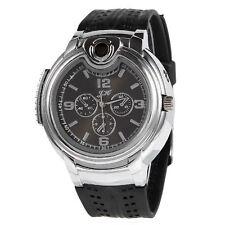 Reloj de pulsera para hombre moda encendedor acero inoxidable de silicon Regalo