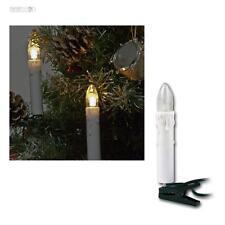 Lichterkette für Innen, 230V, 16 LED Kerzen warmweiß Weihnachtsbeleuchtung 16er
