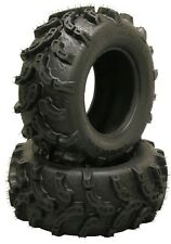 2 Premium ATV UTV Tires 26x12-12 26x12x12 Rear 6PR 10218 Mud Ultra Deep Tread
