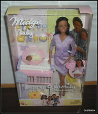 NRFB BARBIE MATTEL 2002 AA HAPPY FAMILY MOM & BABY  MIDGE & NEWBORN BABY DOLL