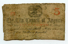 City Council Of Augusta Ga Note Red 3 Well Used with Numerous Holes & Other Issu