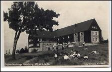 Sachsenberg Georgenthal AK ~1935 gelaufen Partie an Jugendherberge Aschberg