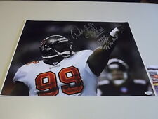 Warren Sapp Signed 16x20 Photo Jsa #J50730 Tampa Bay Buccaneers Super Bowl 37