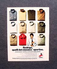 [GCG] M977 - Advertising Pubblicità - 1979 - RODRIGO , CLASSICO SPORTIVO