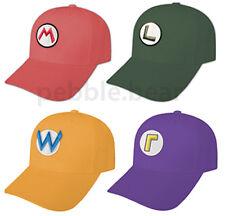 NEW SUPER MARIO LUIGI BROS WARIO WALUIGI CAP HATS SNES FIRE CAPS HALLOWEEN USA