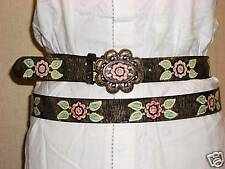 BRAND NEW RED ROSE LADIES BELT WITH BUCKLE