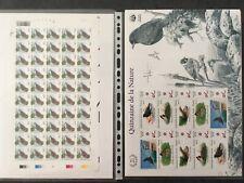 BUZIN - Oiseaux en timbres - Feuillets et feuilles spéciales - collection