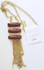 New Cleo Long Necklace with Chain Fringe Tag $32.90