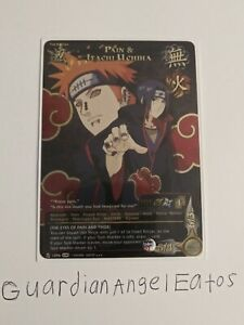 Naruto TCG CCG Pain & Itachi Uchiha Super Rare English Near Mint