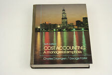 Cost Accounting A Managerial Emphasis Sixth Edition by Charles T Horngren