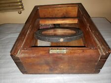 Mid 1800's HAND Dovetailed Candle Box style Field Shaving Box