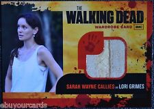Walking Dead Season 1 M2 DOUBLE SEAM VARIANT Lori Grimes Wardrobe Trading Card