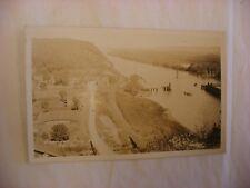 Real Photo Postcard RPPC Bird's Eye View Marquette Iowa IA  1931 #2873