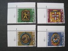 Schweiz  Pro Patria MiNr. 1251-1254 Eckrand gestempelt  (D 125)