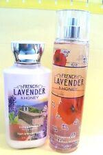 "Bath & Body Works ""FRENCH LAVENDER & HONEY"" fragrance mist & body lotion RETIRED"