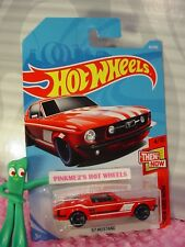 '67 MUSTANG #20 WW✰Red ford;blue rim mc5✰THEN AND NOW✰2018 i Hot Wheels case A/B
