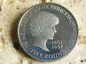 RARE  COIN HUNT £5 FIVE POUND COIN PROOF 1999 Diana Princess of Wales   BUNC