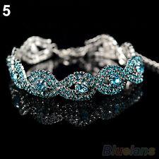 Elegant Deluxe Austrian Crystal Bracelet Women Infinity Rhinestone Bangle Gift