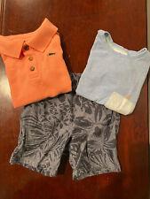 Lot 3 Tommy Bahama Boys Size 3T Shorts(1) Tee(1) And Polo(1)