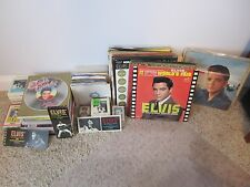 Elvis Presley Lot:  45rpm records, Picture sleeves, LP's, Magazines, 8-tracks