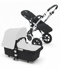 Bugaboo Cameleon 3 + Base (Faux Leather Handle)  Alu/Black + Rain cover NEW