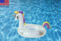 Blink unicorn baby toddler kids Swimming inflatable pool float raftSummer Toy
