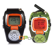 2pcs 2-Way Freetalker Walkie Talkie Radio Digital Wrist Watch Voice Communicator