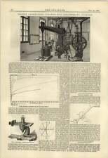 1884 laboratorio de pruebas Cooper's Hill College de ingeniería entre