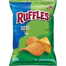 3 Frito Lay, Sabritas, Ruffles, Queso Cheese Potato Chips, 8.5oz Bag