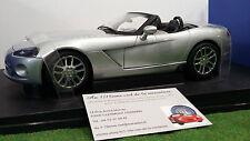 DODGE VIPER SRT-10 cabriolet 2003 gris 1/18 AUTOart 71706 voiture miniature