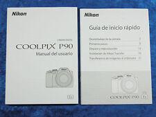 NIKON P90 DIGITAL CAMERA USER MANUAL DEL USUARIO SPANISH ESPAGNOL