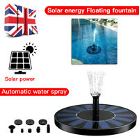 Solar Powered Floating Pump Water Fountain Birdbath Home Pool Garden Decor WE