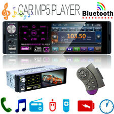 """4.1"""" 1Din Touch Screen Car Stereo MP5 Player RDS AM FM Radio BT USB TF RCA/AUX"""