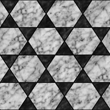 @   7 SHEETS MARBLE TILE glossy 1/6 SCALE ,VINYL PAPER SELF ADHESIVE CODE mar4a4
