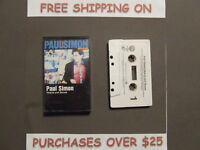 "PAUL SIMON HEARTS AND BONES CASSETTE W/ ""THINK TOO MUCH"""
