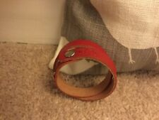Made In italy - Unused handmade leather bracelet - Red -