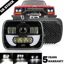 120W 7x6 5X7 LED Headlight Halo DRL For 86-95 Jeep Wrangler YJ 84-01 Cherokee XJ