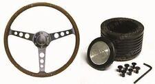 JAGUAR XJ5 ,XJ6 SAAS Classic 15 Inch 350mm Wood Steering Wheel & Boss Kit Combo